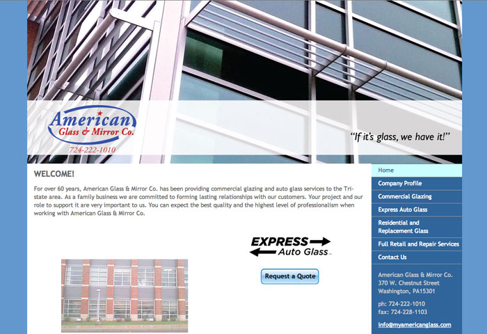 American Glass & Mirror Website