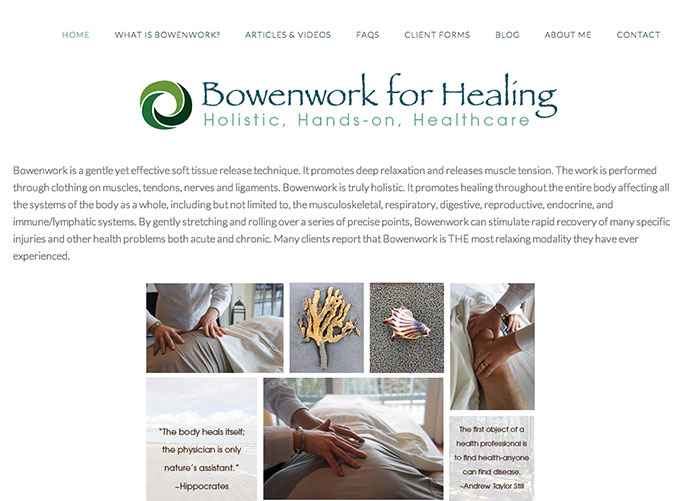 Bowenwork for Healing Website